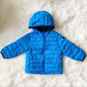 GAP Little Boy Puff Winter Coat Blue